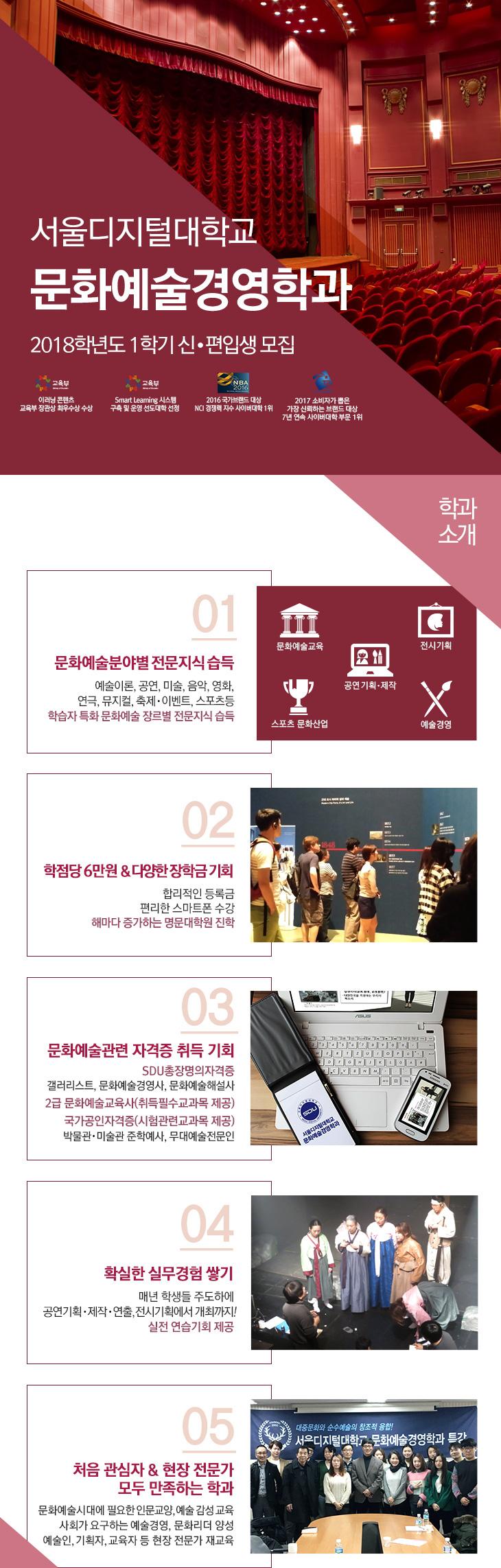 서울디지털대학교 문화예술경영학과 소개